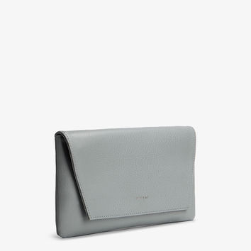 Matt and Nat Daisy Clutch in Gravel Blue Gray Vegan Leather