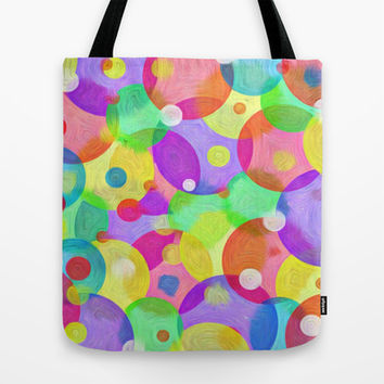 Round Colors Tote Bag by Robleedesigns