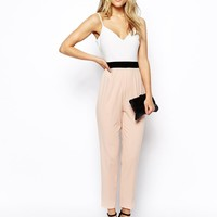 ASOS Contrast Blocking Jumpsuit