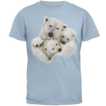 DCCKJY1 Polar Bear & Cubs Adult T-Shirt