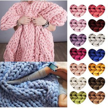 34 Color Chunky Wool Yarn Super Bulky Arm Knitting Wool Roving Knitted Blanket Chunky Wool Yarn Super Bulky Arm Knitting Wool Ro