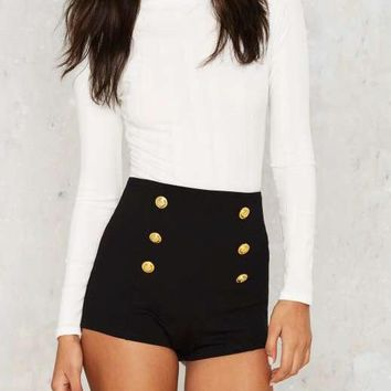Hight Waist Sailor Shorts