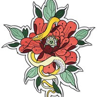 Floral Snake Large Back Patch