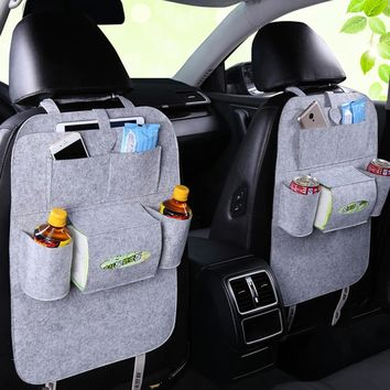 LANVY Car Back Seat Organizer Travel Accessories Toy Storage Bag for Bottles Kids Tissue Box Car Organizer Brown Car Organisers Car Seats & Accessories