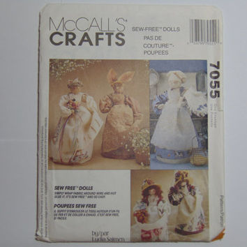 McCall's Craft Pattern 7055 Sew Free Dolls 1994
