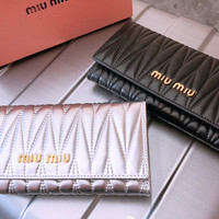 Miu Miu Leather Flap Wallet