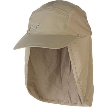 Mountain Hardwear Unisex Cooling Ravi Flap Cap, Khaki, Regular