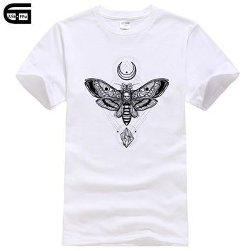 2018 Fashion Moth T Shirt Men Satan Satanism Satanismus Anton Lavey Church Of Goth Gothic Harajuku Funny Rick Tee T336