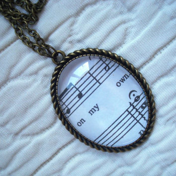 Les Miserables sheet music necklace (On My Own)
