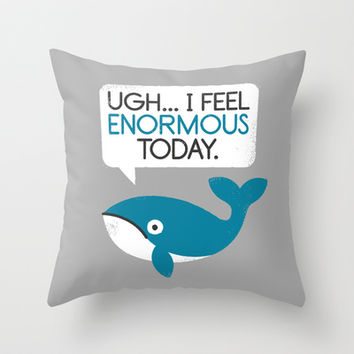 Water Weight Throw Pillow by David Olenick