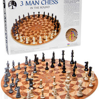 Three Man Chess: A 3-person chess board