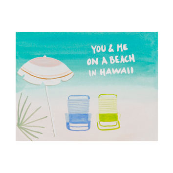 Ocean Paper - On A Beach in Hawaii Card