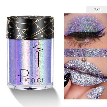 Body Glitter Festival Tattoo Makeup Sequins Holographic Shimmer Face Hair Lip Eyeshadow Loose Powder Paint Glow Pigment