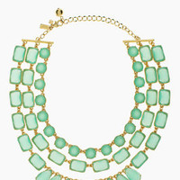 riviera garden triple strand necklace