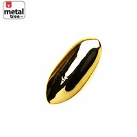 Jewelry Kay style Men's Hip Hop Fang 14K Gold Plated Vampire Single Plain Teeth Grillz ND L01 G