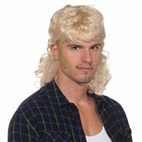 Mullet Man Wig Costume Accessory Adult Halloween