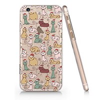 Cute Cats Merry Christmas Clear Transparent Plastic Phone Case for iphone 6/6_SUPERTRAMPshop