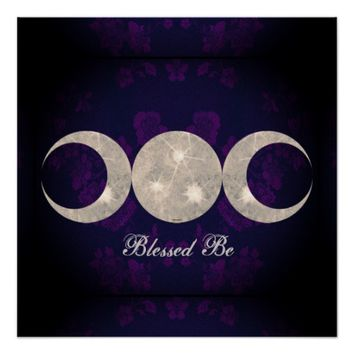 Witch Prim Triple Moon Goddess Poster