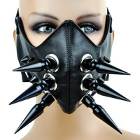"3"" Black Spike Motorcycle Riding Mask Biker Cosplay"