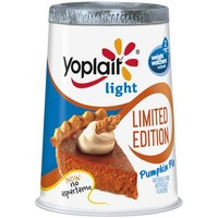 Yoplait Light Limited Edition Pumpkin Pie Fat Free Yogurt, 6 oz - Walmart.com