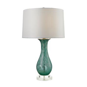D2727 Swirl Glass Table Lamp in Aqua - Free Shipping!