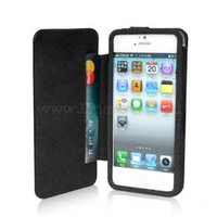 Cool Wallet Flip Leather Case for iPhone 5
