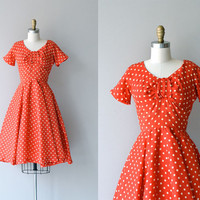 Bon Anno dress | vintage 1950s dress | polka dot 50s dress