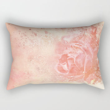 Rose Colored Splashes Rectangular Pillow by Theresa Campbell D'August Art