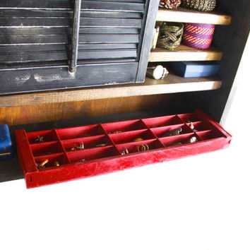 Red Tree Wall Hanging Jewelry Organizer... Handmade by TangleandFold