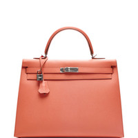Hermes 35Cm Flamingo Pink Epsom Sellier Kelly by Heritage Auctions Special Collection - Moda Operandi