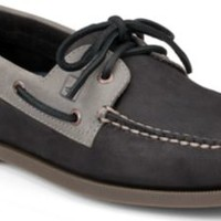 Sperry Top-Sider Authentic Original Two-Tone 2-Eye Boat Shoe Black/Gray, Size 8.5M  Men's Shoes