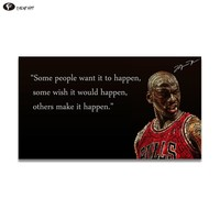 CHENFART  Oil Painting Posters and Prints Michael Jordan Air Slam Dunk Sports Ultra Photos Pictures no Framed Canvas Painting