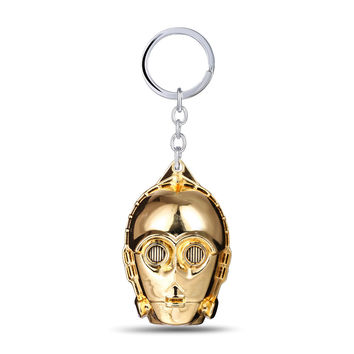 New Arrival Hot Sale Creative Trendy Functional Great Deal Gift Starwars Gold Pendant Alloy Keychain [4919922756]
