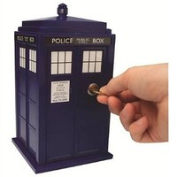 Doctor Who Tardis Safe - With Lock and Key - Lights and Sounds, Bigger on the inside
