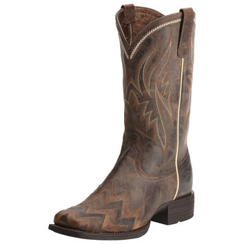 Ariat Womens On Point Wide Square Toe Cowgirl Boot