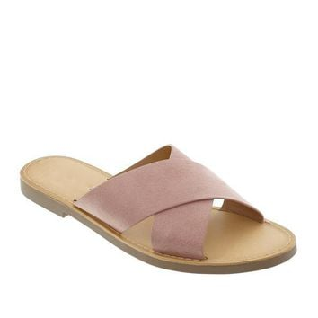 Crisscross Straps Slipper Sandals