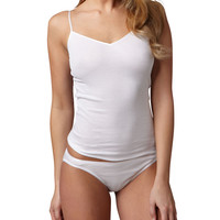Women's Cotton Seamless Camisole, White - Hanro - White