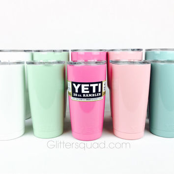 Yeti Rambler * Authentic  20oz *  White Yeti  / Mint Yeti / Pale Pink Rambler / Pink Rambler / Teal Rambler / Hot or Cold