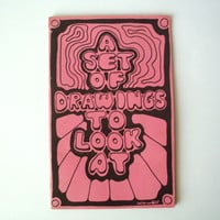 "1970's Book of Mod Psychedelic Art: ""A Set Of Drawings For You To Look At"" by L. Martin"