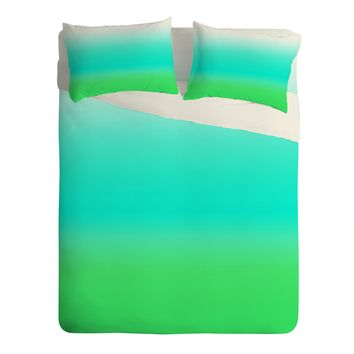 Natalie Baca Aquamarine Ombre Sheet Set Lightweight