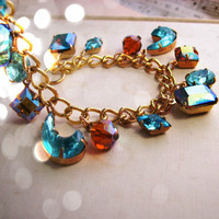 Blue Sky vintage rhinestone topaz AB and by shadowjewels on Etsy