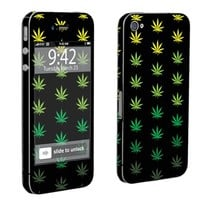 Apple iPhone 4 or 4s Full Body Vinyl Decal Sticker Protection Skin Weed By Skinguardz