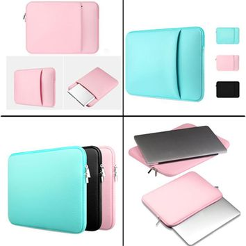 For Apple Macbook AIR PRO Retina Notebook 11/12/13/14/15 Inch Soft Sleeve Laptop