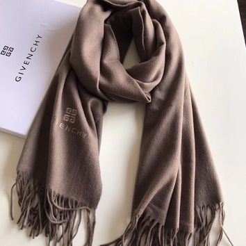 Givenchy Woman Accessories Cashmere Tassel Cape Scarf Scarves