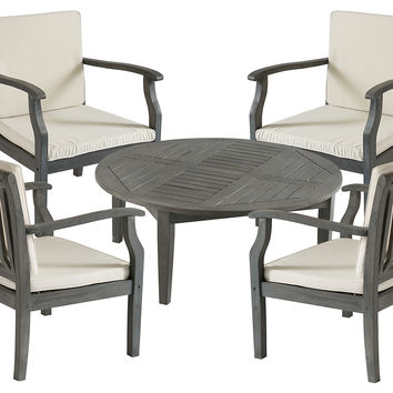 Outdoor Orleans Coffee Set, Gray, Outdoor Dining Sets