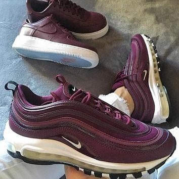 NIKE  Air Max 97 Bullet air cushion running shoes