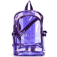Bright colored 90s vintage overstock clear Jelly backpack bag black, pink, yellow, purple