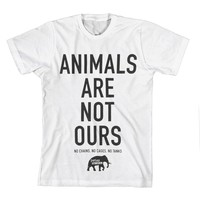 Animals Are Not Ours White : PETA : MerchNOW - Your Favorite Band Merch, Music and More