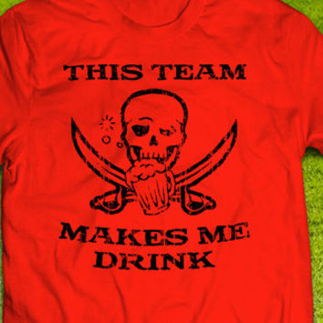 Tampa Bay Buccaneers This Team Makes Me Drink T-shirt