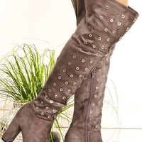Thigh High Grommet Boot